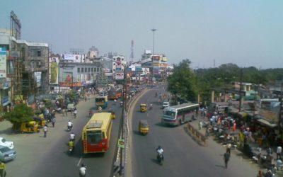 Calles aptas para niños en la ciudad de Coimbatore, India