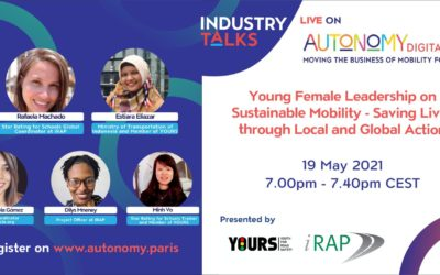 iRAP y YOURS se enorgullecen en coorganizar una charla sobre la industria sobre el liderazgo femenino joven en movilidad sostenible: ¡Autonomía digital 2.0!