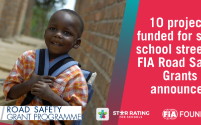 10 projects funded for safer school streets – FIA Road Safety Grants announced