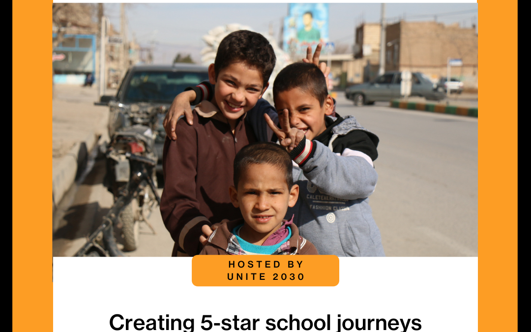 Special SR4S workshop 'Creating 5-star school journeys' presented at the Youth SDG Summit